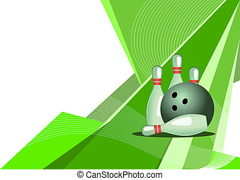 Bowling, abstract design