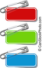 Vector new stickers - Vector set of color stickers