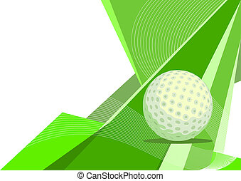 Golf, abstract design