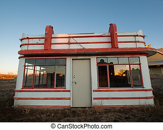 Old Gas Station - An old gas station at the Lakewood...