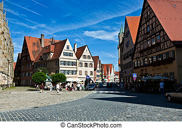 medieval city Dinkelsbuehl in Germany - The medieval city...