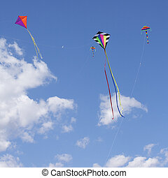 Kites Flying in the sky fun and Exciting for Children