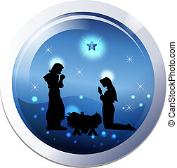 Christmas nativity 25th december scene
