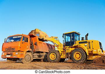 wheel loader excavator and tipper dumper - wheel loader...