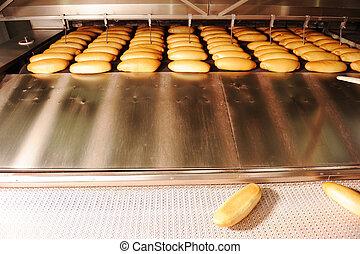 In bread bakery food factory - In bread bakery, food factory