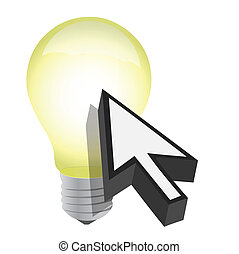Arrow cursor and light bulb