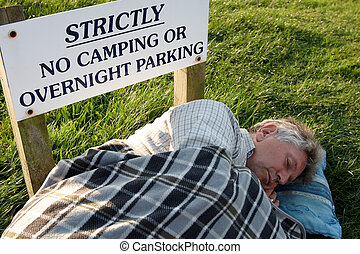 sleeping rough - breaking the rules and sleeping rough
