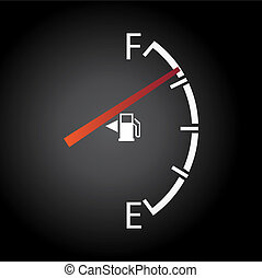 gas gauge isolated on a dark background