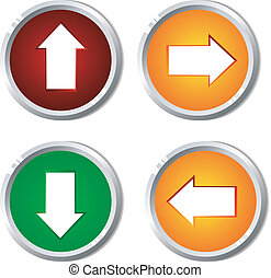 Vector illustration of a button with the pointer
