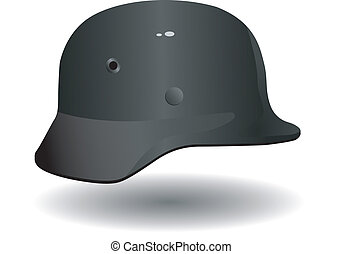 Vector German military helmet
