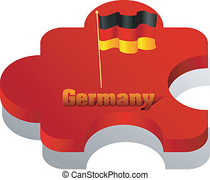 Vector illustration of puzzle with a flag of Germany