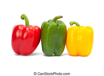 Three sweet peppers