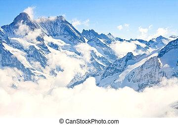 Jungfrau region in Swiss Alps, Switzerland - part of...