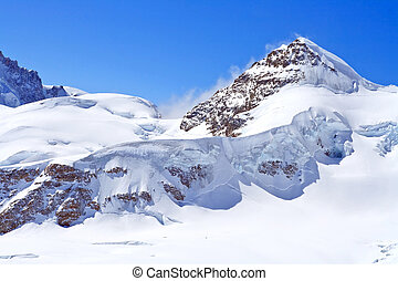 The Swiss Alps at Jungfrau region, Swizerland