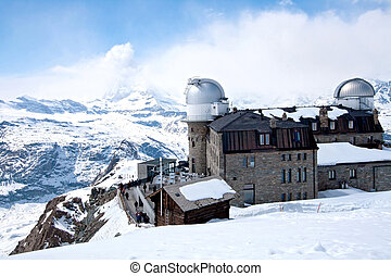 Gornergrat Observatory and Matterhorn Switzerland - The...