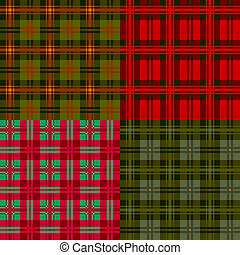 Set plaid patterns, tartan, fabric textile,vector