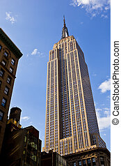 facade of Empire State Building in New York