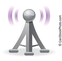 wireless tower icon for your design