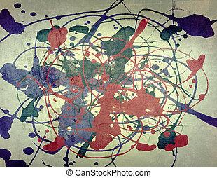 Retro ink splatter paper grunge background
