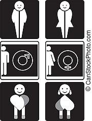 Toilet vector signs
