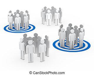 Trabalho equipe, Grupo, círculo, azul, tarbet