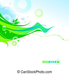 Abstract vector spring illustration