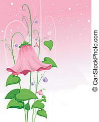 Pink Flower - Illustration of a Giant Pink Flower