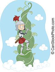 Knight Climbing Vine
