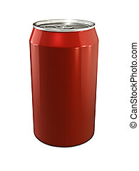 drink can - 3d illustration of drink can on white background
