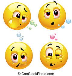 Smileys - Drunk smiling balls