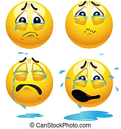Smileys - Sad smiling balls