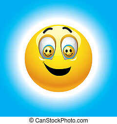 Smiley - Smiling ball with smileys in eyes