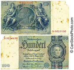 100 Reishsmark 1935 - Vintage former German collectible...