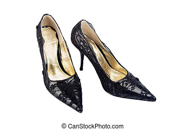 High heels - Elegant expensive black high heel women shoes...