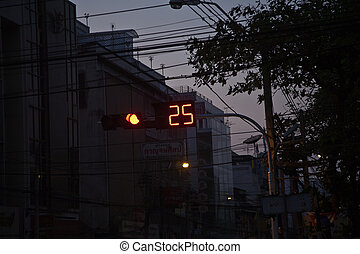 number on a traffic light indicates seconds to wait