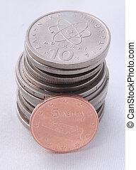 pila, pesos