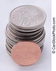 pesos, pila
