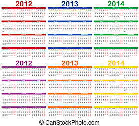 Calendar 2012 - 2013 - Calendar 2012, 2013 with room for...