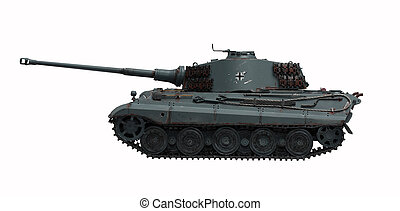 Tank King tiger 2 - The model tank King Tiger 2 of WW2