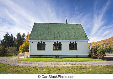 Rural Church - Small wooden rural church with unusual...