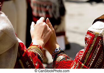Hand in Hand - traditional dress - Usual typical performance...