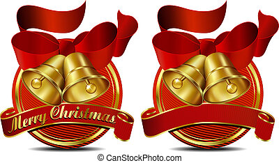 Christmas Bells Red Web Banner