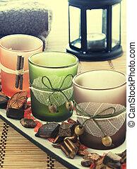spa arrangement,close up photo