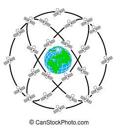 Przestrzeń, Satelici, Bzik, Orbity, Dookoła, ziemia
