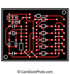 vector abstract circuit board