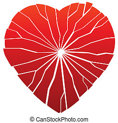 broken heart - illustration of vector broken heart