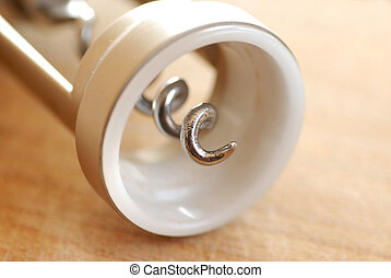 Cork screw closeup - metallic cork screw closeup details...