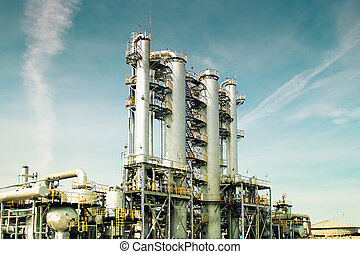 View gas processing factory gas and oil industry