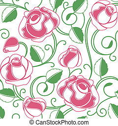 Background seamless roses pattern