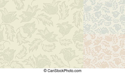 Seamless flowers pattern. Template